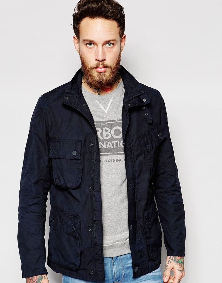 Image 1 ofBarbour International Jacket in Cotton