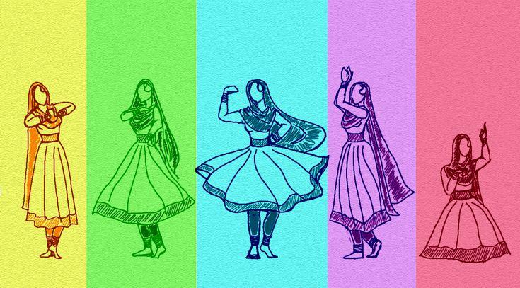 Multicolor Kathak