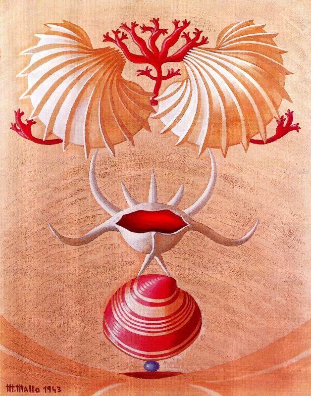 Naturaleza Viva. 1943. Óleo sobre tablero de artista. 42 x 33 cm. Colección particular. Obra de Maruja Mallo