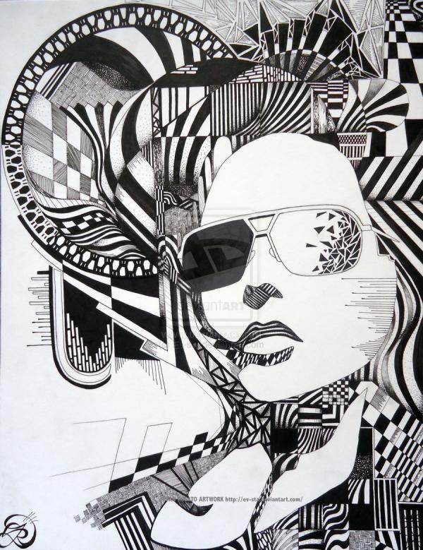 473 best zen amazing tangles images on pinterest for Doodle art faces