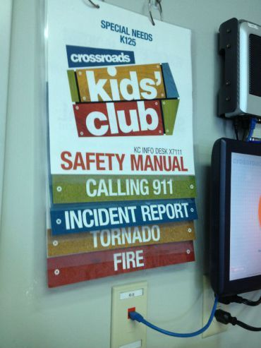Does your church have a clear plan for emergencies? Crossroads Church does. In fact, it's so clear, that they have a Safety Manual displayed in each Kids Room. Each Manual is custom made w…