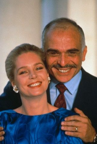 King Hussein, passed away with cancer of lymph-node. (Queen Noor of Jordan)