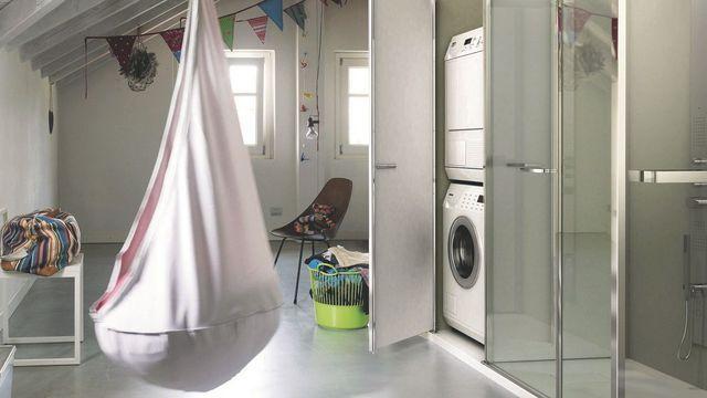 1000 id es sur le th me lave linge sur pinterest collier - Integrer machine a laver dans salle de bain ...