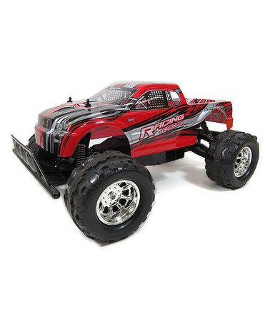 This Red Remote Control 4WD Big Monster Truck Toy is perfect! #zulilyfinds