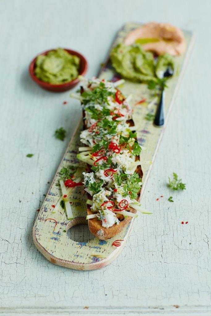 New menu has some great dishes - crab and avocado bruschetta Jamie's Italian - UK