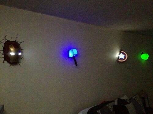 Avengers bedroom..even I would want this!
