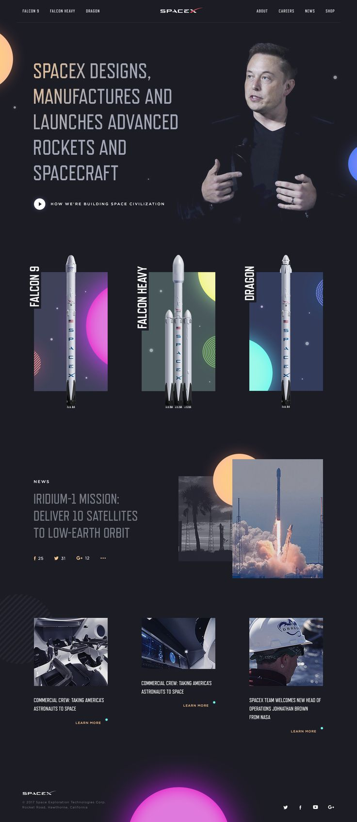 Spacex page
