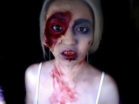 Zombie Makeup tutorial HALLOWEEN