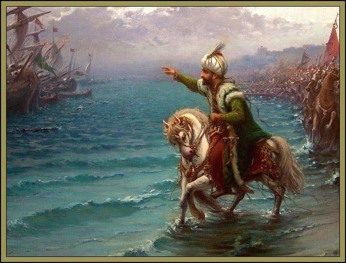 1451 yılında tahta geçen II. Mehmed, İstanbul'un fethi için hazırlıklara başladı. Bu hazırlıklarda Osmanlı donanması güçlendirildi.Yüz elli parçadan oluşan (Bazı Rum tarihçilere göre dört yüzden fazla) bir Osmanlı donanması hazırlanmıştı. Fatih, kuşatmada donanmadan yararlandı21 Nisan'ı 22 Nisan'a bağlayan gece, birkaç Osmanlı gemisi karadan yürütülerek Haliç'e indirildi.İstanbul fethedildikten sonra II. Mehmed,