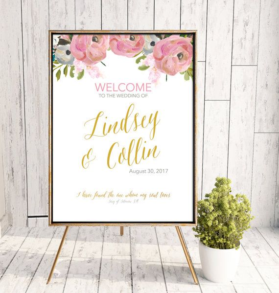 Wedding or Ceremony Welcome Printable Sign by LindseyBrewerPrints