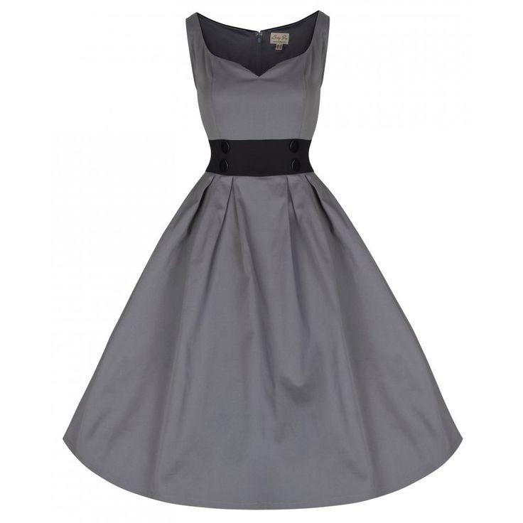 Little Wings Factory - Lindy Bop 'Bobbie Jo' Grey Vintage Dress, £30.00 (http://www.littlewingsfactory.com/lindy-bop-bobbie-jo-grey-vintage-dress/)