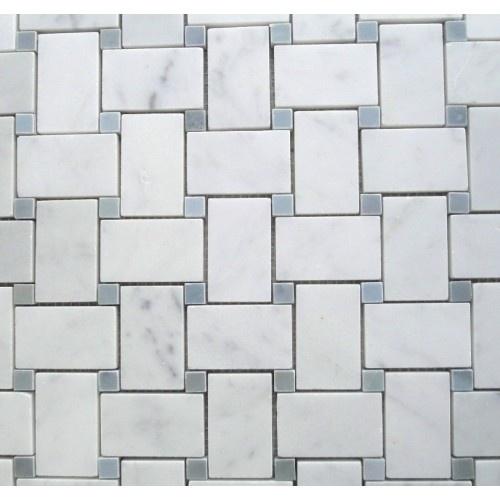 White Carrara Marble Italian Bianco Carrera Basketweave