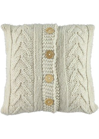 Cream cable cushion Matalan £12