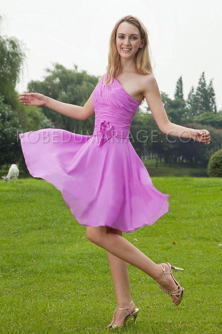 Promo noël: -40% sur toutes les robes de cocktail pas cher Prix : €70,99 Lien pour acheter : http://www.robedumariage.com/robe-de-cocktail-unique-bretelle-couleur-jupe-mi-longue-plissee-mousseline-de-soie-product-1816.html