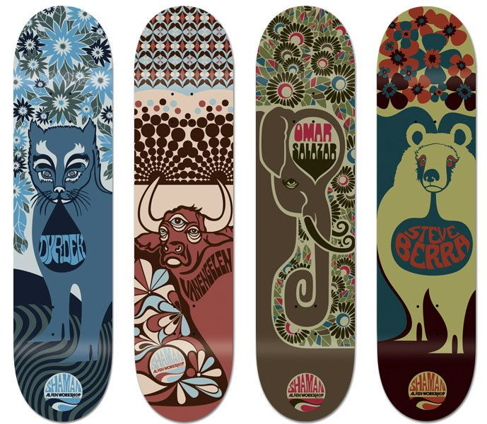 Alien Workshop   Skateboard graphics  Skateboarding  Anthony Yankovic, via Behance