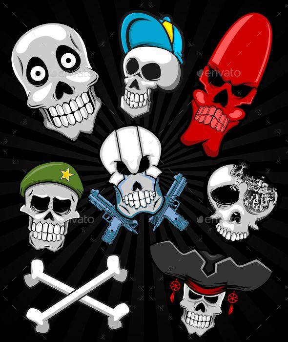 Skull Set - Halloween Seasons/Holidays