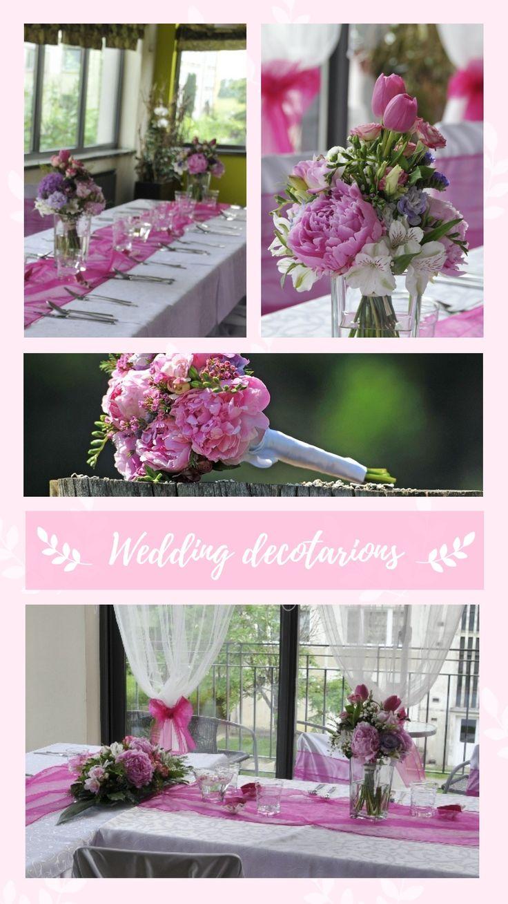 Svadobná výzdoba z krásnych ružových pivónií. #svadba #svadobnavyzdoba #svadobnakytica #wedding #weddingflowers #weddingdecorations #weddingbouquet #slovakia #kvetyexpres