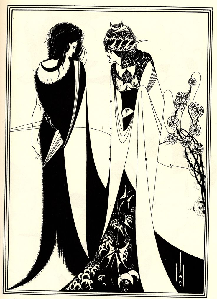 Salome with her Mother, Aubrey Beardsley (1894)  https://www.artexperiencenyc.com/social_login/?utm_source=pinterest_medium=pins_content=pinterest_pins_campaign=pinterest_initial