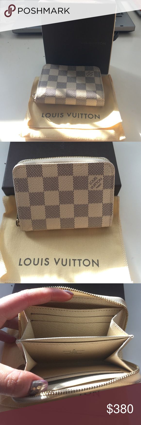 Louis Vuitton damier azur zippy coin purse Comes with original dust bag and box. Authentic! Purchased in sept 2016. No trades.   Will consider different price thru pa y p al or ♏️ Louis Vuitton Bags Wallets