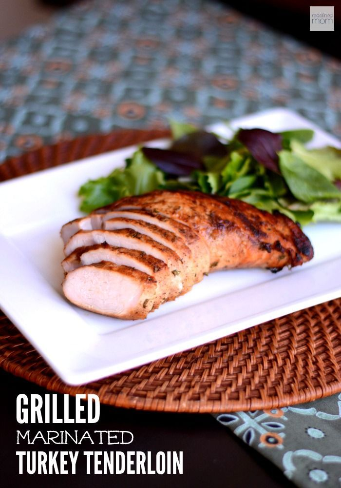 The alternative to grilling chicken on a hot summer evening - this Grilled Marinated Turkey Tenderloin recipe. Bonus, makes amazing lunch meat as leftovers.