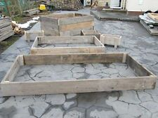 RAISED BEDS FOR GARDENS FROM USED SCAFFOLD BOARDS/PLANKS