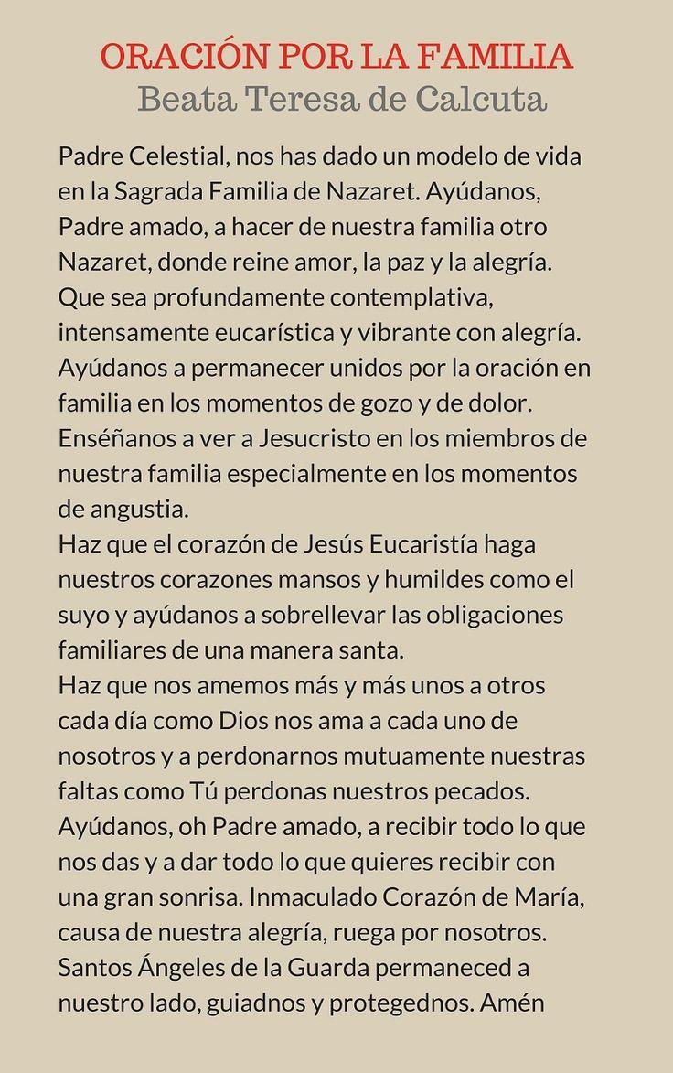 Oración por la familia, de la Beata Teresa de Calcuta
