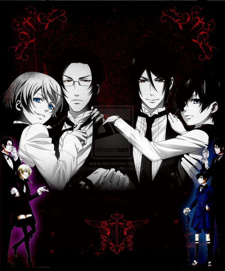 Black Butler, Alois Trancy, Claude Faustus, Sebastian Michaelis, and Ciel Phantomhive
