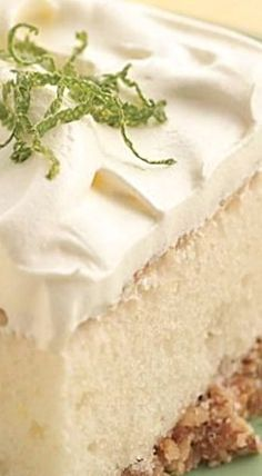 Margarita Cake - this cake features the favorite sweet and salty combo with a crunchy pretzel crust. ❊