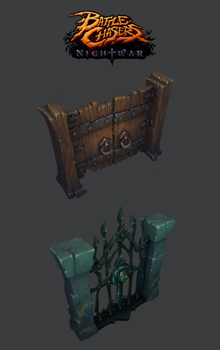 Battle Chasers Nightwar - Props, Ayhan Aydogan on ArtStation at https://www.artstation.com/artwork/V8PDR