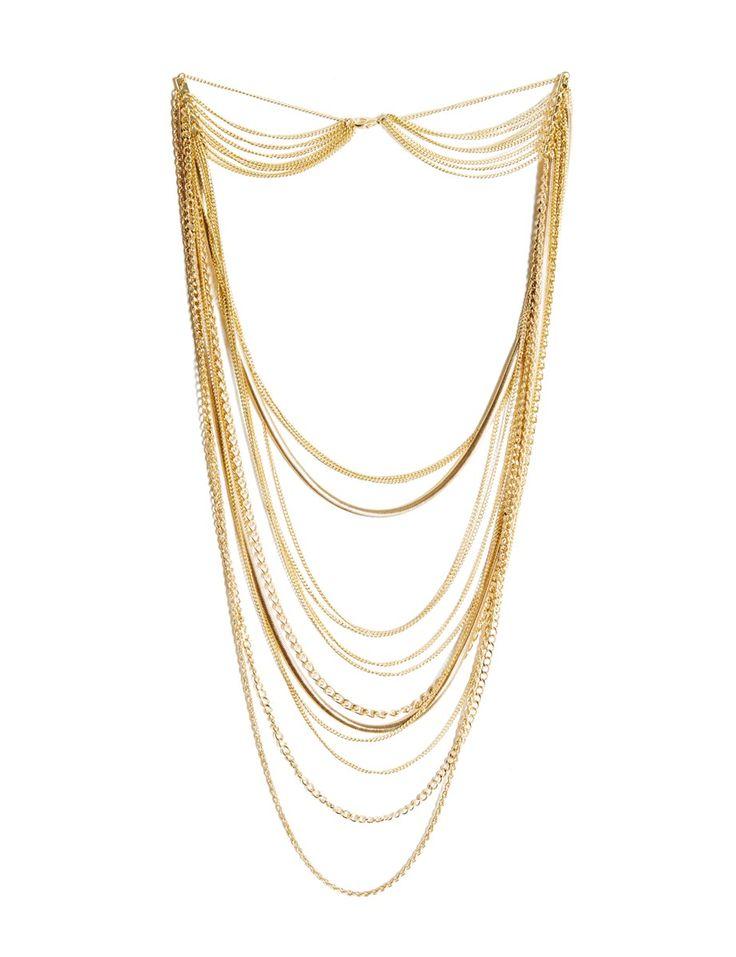 Collier multirangs chaînes #MORGANDETOI #GOLD