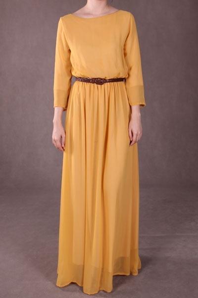 Penny Chiffon Maxi Dress - Yellow