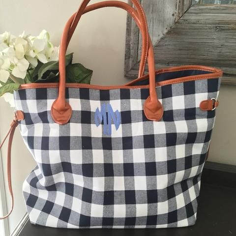 Classic Gingham Tote