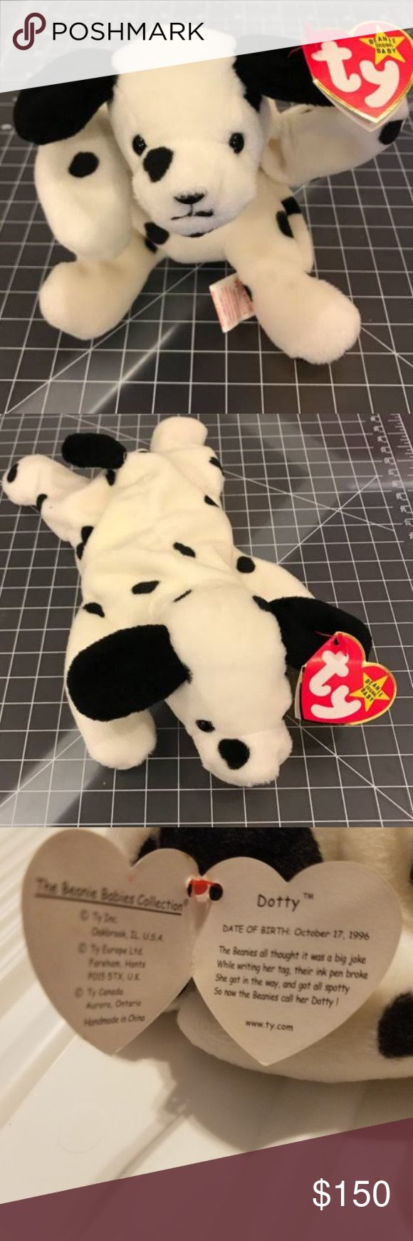 Dottie the beanie baby-vintage item but brand new Rare - 1996. Collectors item -NWT ty Other