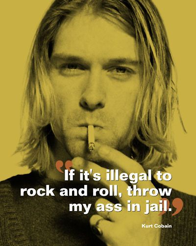 Kurt Cobain Nirvana Rock & Roll Quote Poster Print 10x8 House & Home Gifts