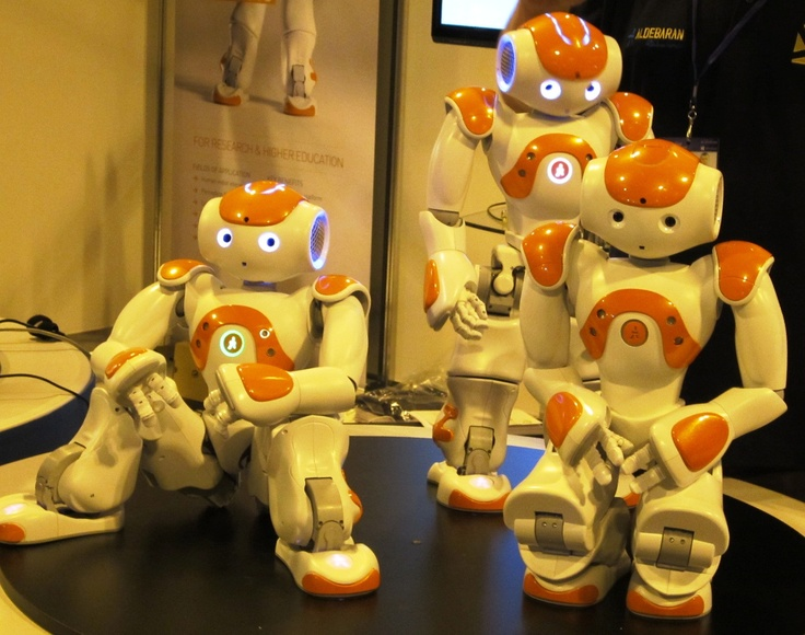The NAO humanoid robot can be programmed to perform many tasks, including Gangnam Style! These little guys cost £12,000 a bot!