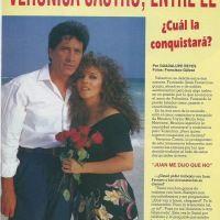 Entre el amor de dos hombres. Revista TVyNovelas.