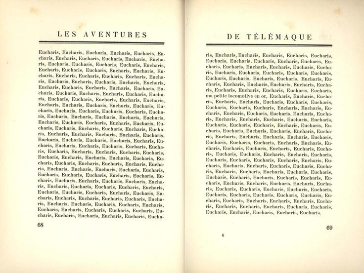 Eucharis is missed. From Louis Aragon'sLes aventures de Télémaque(1922)