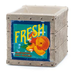 Fruit Crate Scentsy Warmer Modelled after a weathered wooden crate straight from the orchard, this rustic piece brings an artful twist to farmhouse charm.