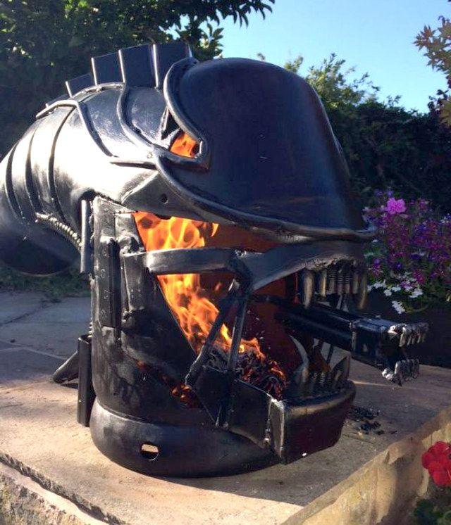 An Builds Fire Breathing Dragon In Garden