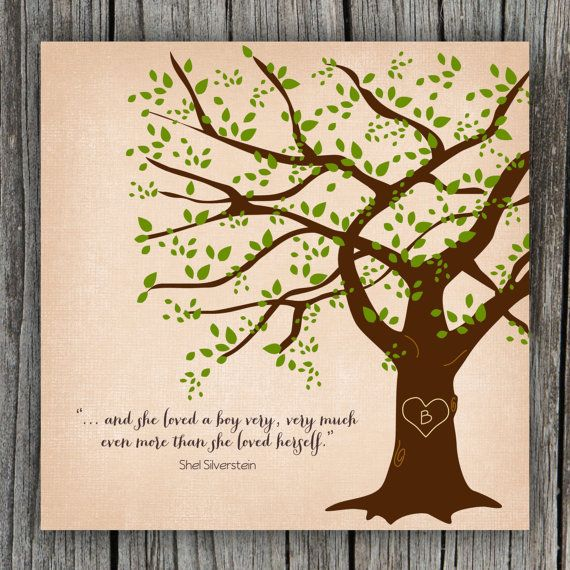 Giving Tree Wall Art - PetitPapel Etsy