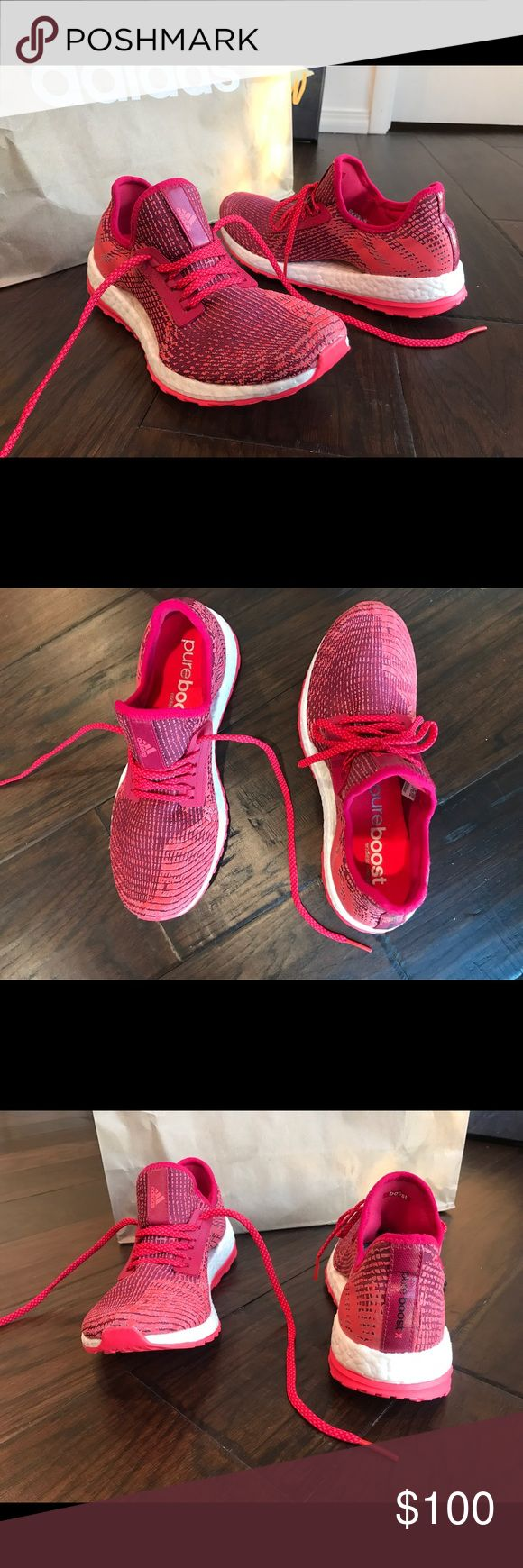 Adidas Pure Boost X Women's US Size 9 - Super cute athletic shoes! Love the pure boost because they are really comfortable and hug your foot just right! (Never worn) adidas Shoes Athletic Shoes