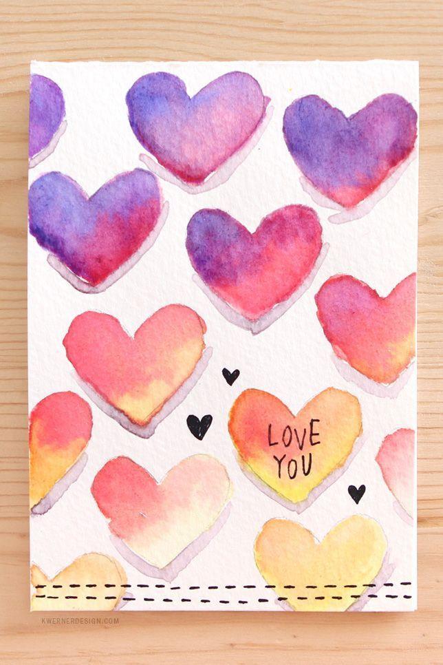 Werden Sie kreativ mit diesen niedlichen Bastelideen für den Valentinstag  #bas…
