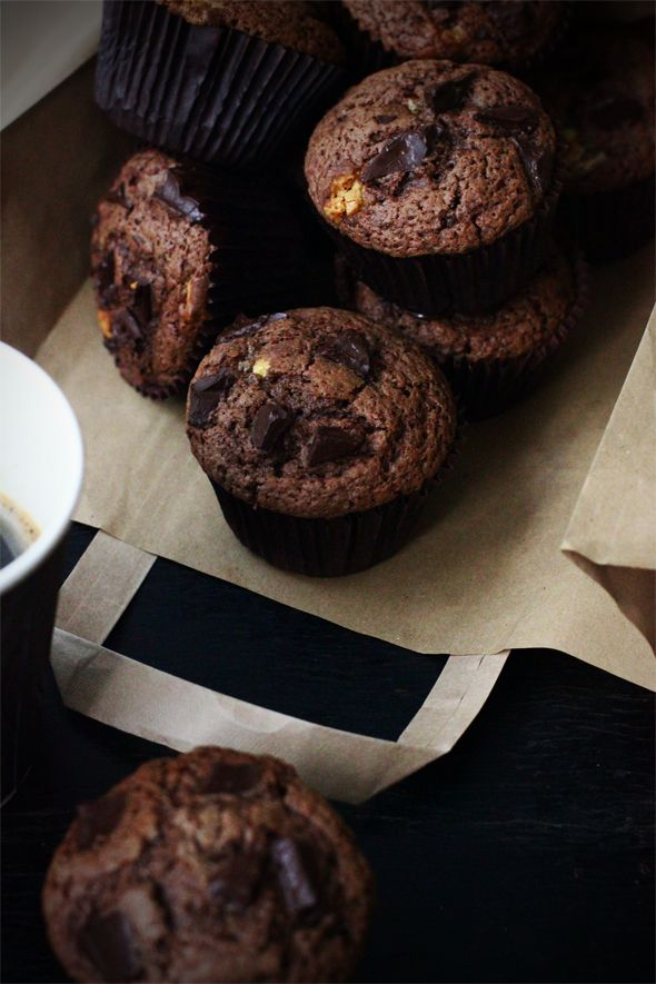 Mufinki ekstremalnie czekoladowe, pyszne