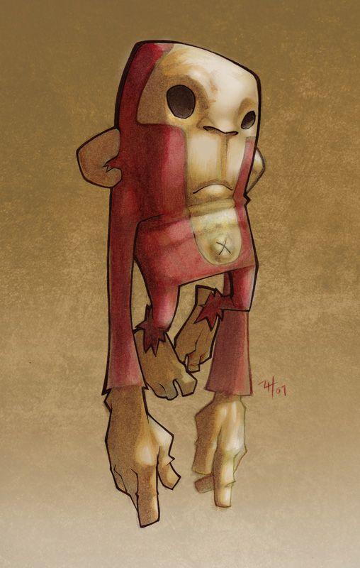 Red Monkey O.O by ~t-wei on deviantART