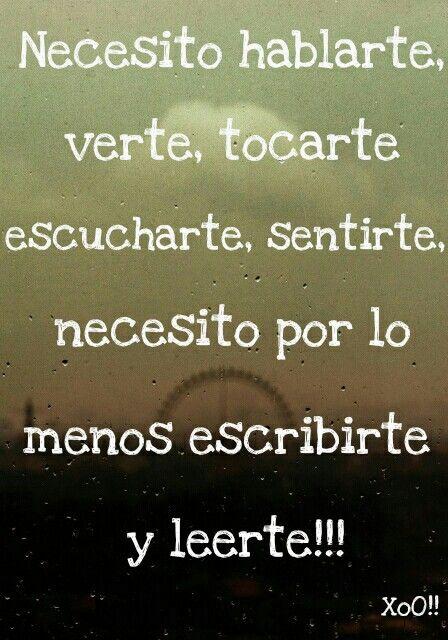 Simplemente te necesito...