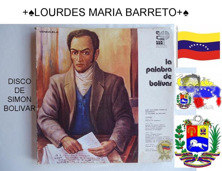 DISCO DE SIMON BOLIVAR UN FABULOSO DISCO DE MI PAPA,PARA EL DIA DE HOY.PARTE 1    VENEZUELA HOY 14 DE ABRIL DEL 2013  ES EL GRAN DIA DE IR A VOTAR…VENEZUELA QUE VUELVAS HACER EL PARAISO QUE ERAS…COMO LO DIJO EL PADRE PEDRO NUÑEZ,EN LA JORNADA QUE VINO A VENEZUELA.      +♠LOURDES MARIA BARRETO+♠