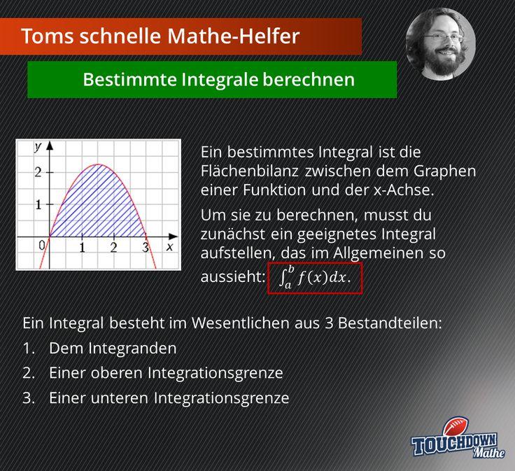Toms schnelle Mathe-Helfer: Bestimmte Integrale berechnen #TOUCHDOWNMathe #TomsschnelleMatheHelfer #bestimmteIntegrale #Integrale #Integraleberechnen #Abi #Abitur #Abivorbereitung #Tipps #Oberstufe