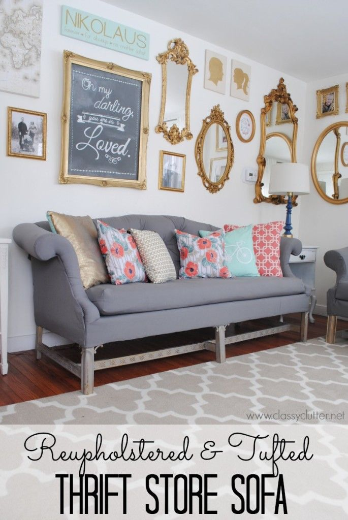 How to reupholster a sofa! | Today s project was literally one of the biggest DIYs I have ever taken on. Not because it was incredibly difficult or something but because it was a long process and the payoff was huge! I taught myself how to reupholster a sofa!