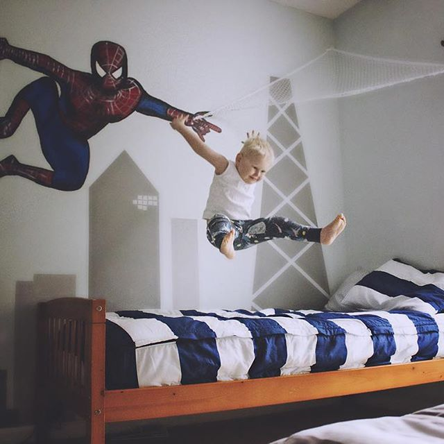 Cute Boy Bedding Spiderman Theme Even Super Heroes Like To ZIP Their Bed