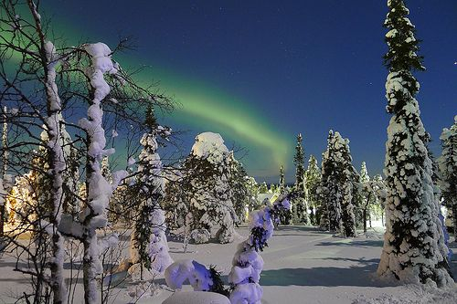 Northern Lights in Ruka, Finland. By timo_w2s